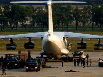 RUSSIAN CARGO PLANE INTERCEPTED ON ASIAN WEAPONS RUN