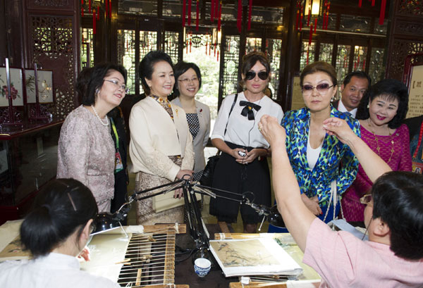 First ladies enjoy Chinese culture